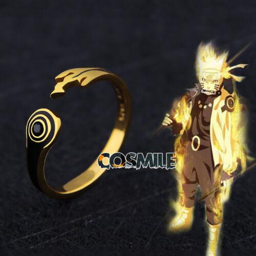 S925 Silver Naruto Uzumaki Rikudo Sennin Kyuubi Kurama Finger Ring Cosplay Anime