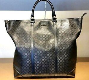 44923cc322f2 $2,100 Authentic Gucci Diamante Leather Men's Tote weekend bag ...