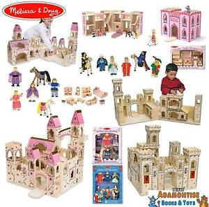 Details About Melissa Doug Folding Wooden Princess Medieval Castle Early Learning Toy Figures