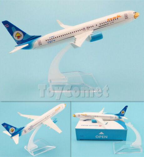 Nok Air Thailand Boeing 737 G-OXLC White Airplane 16cm DieCast Plane Model