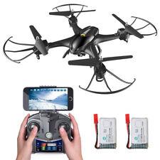 Holy Stone HS200 Drohne mit HD WIFI KAMERA FPV APP RTF Quadcopter 2 Batterien BK