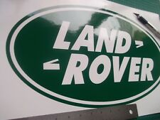 DOMED STICKER DEFENDER DISCOVERY 90 110 QTY X3 54x27MM GREEN LAND ROVER