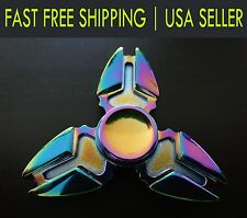 Rainbow Tri-Spinner EDC Fidget Spinner Focus New Toy for adults kids adhd 3