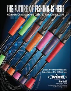 Winn-Straight-Taper-Fishing-Rod-Rear-Grips-4-5-034-10-Colours