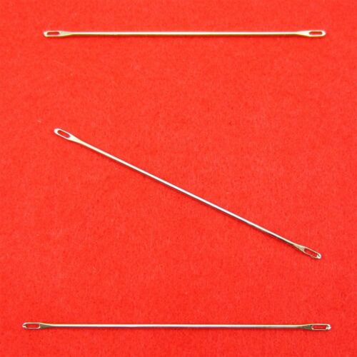 SET 2x 3 Umhängenadeln 4.5-5.0 u 6.3-9.0mm Double Eye Needles Strickmaschine