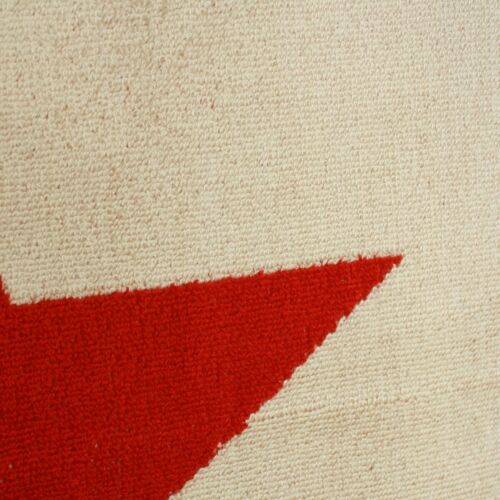 Handtuch 50x100 cm Stern Rot Beige Baumwolle Walkfrottier Badetuch Pooltuch