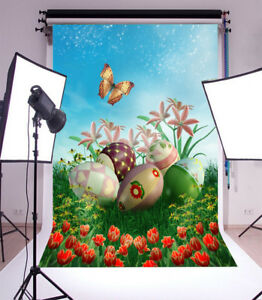 Image Is Loading Colorful Garden Easter Photo Backdrops Studio Vinyl Photography