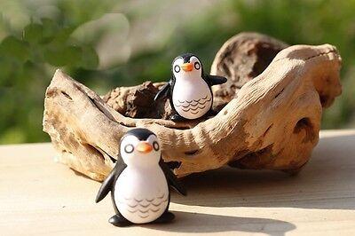 Miniature Ceramic penguin Figurine Statue Decorative Collectibles Set 4 pcs