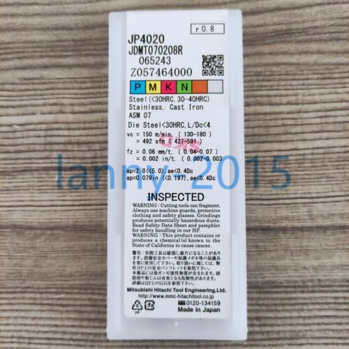 10PCS//box Original New HITACHI CNC blade JDMT070208R JP4020