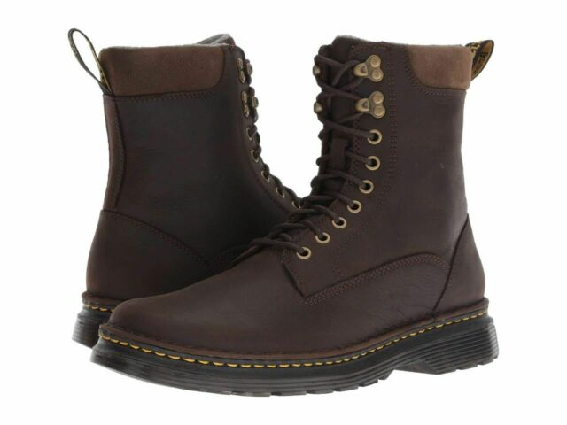 7b4bb78b75f Men's Shoes Dr. Martens VINCENT HOOK WP Leather Boots 23706246 DARK  CHOCOLATE