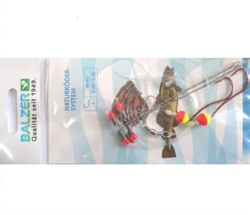 Balzer Brandungsvorfach Plattfisch Naturköder System m Seitenarm rot//gelb