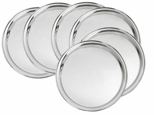 Set of 6 Pc with free shipping /& lowest price Stainless steel Dinner Plate Set