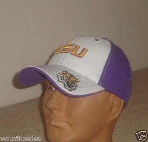 new style 19cbe de1cc Image is loading LSU-Tigers-Baseball-Hat-NCAA-New-Louisiana-State-