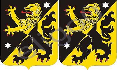 2x vastgottland SWEDEN coat of arms bumper stickers