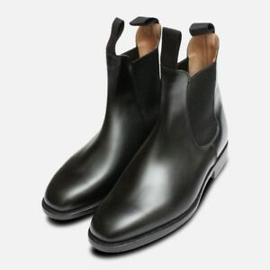 424cdf5d2be Details about Trickers Black Ladies Lily Elastic Chelsea Boots
