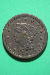 1847-Braided-Hair-Large-Cent-Exact-Coin-Pictured-Flat-Rate-Shipping-OCE142