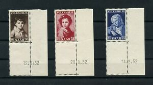 Germany-Saar-Saarland-vintage-yearset-1952-Mi-338-Br-340-Br-Mint-MNH