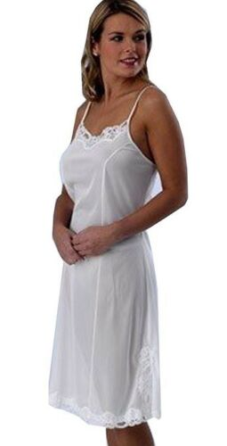 Lace Trim and Vent Ladies Luxury  Ribbon Strap Full Slip with Adjustable Straps