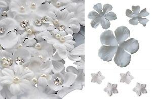 Job lot or ten pieces ivory fabric flower petals bridal floral petals craft kit
