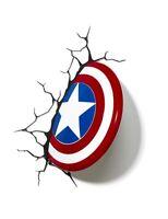 Marvel Avengers Captain America Shield 3d Fx Deco Led Wall Light Nightlight on sale