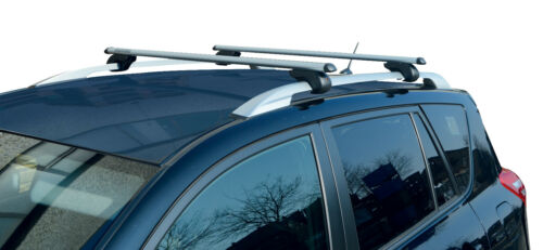 M-Way Aerodynamic Lockable Aluminium Roof Rack Rail Bars for Fiat Stilo Estate