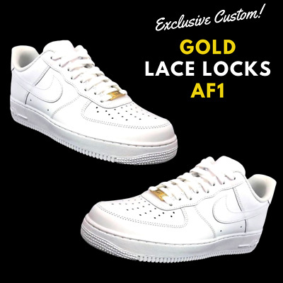 Nike Air Force 1 White w/Gold lace