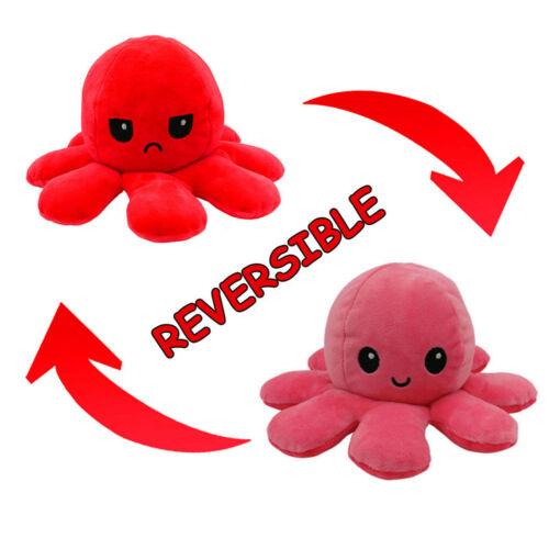 Octopus Doll Doppelseitiger Flip Octopus Plüschtier Puppenpuppe Marine Life GE