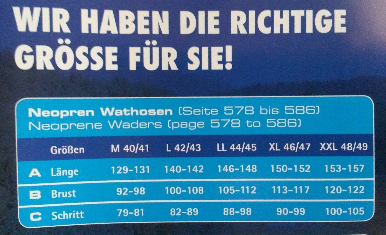Behr Neopren - Wathose 4mm 45/46  Watstiefel Gr. 45/46 4mm  8619003 -- 0d3888