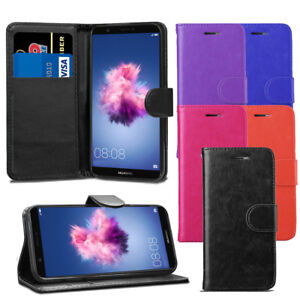Pour-Huawei-P-Smart-2017-Premium-Portefeuille-En-Cuir-Flip-Case-Cover-Screen-Guard