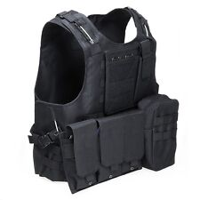 New Amphibious Tactical Military Molle Vest Waistcoat Combat Chest Assault BLACK