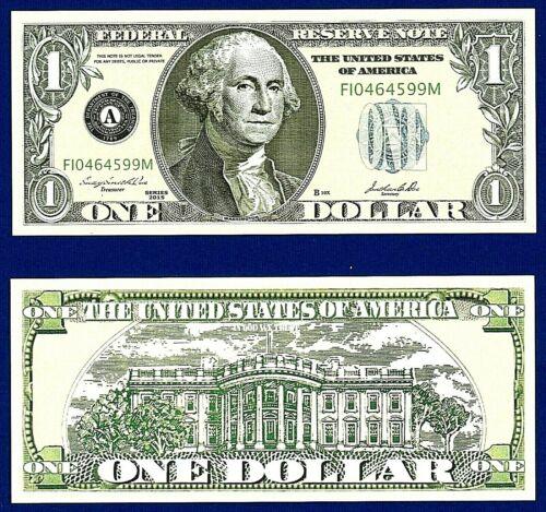 5-$1.00 Dollar Bills Play Casino Poker Money Washington Funny Fake Money Note T1