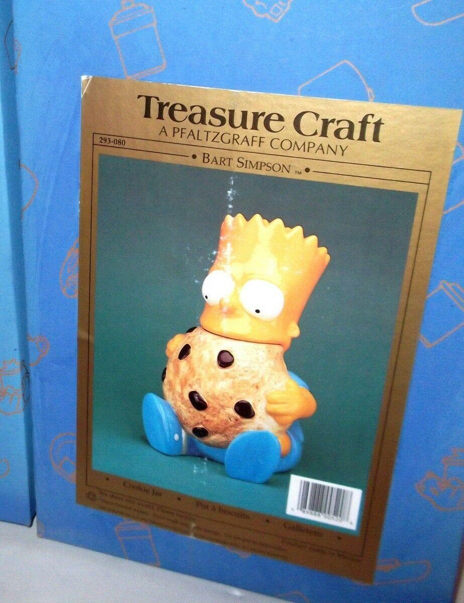 ✰ BRAND NEW SEALED  BART SIMPSON COOKIE JAR'S TREASURE CRAFT