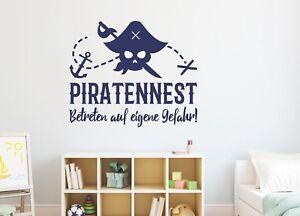 Wandtattoo Kinderzimmer Junge Wandtattoo Piraten Jungenzimmer Pirat Pkm338 Ebay
