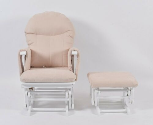 Stool Habebe Recliner Rocking Glider Nursing Chair Brake /& Washable Covers