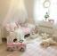 Kinder Baumwolle Betthimmel Baldachin Moskitonetz Rundum Nestchen Schlafzimmer