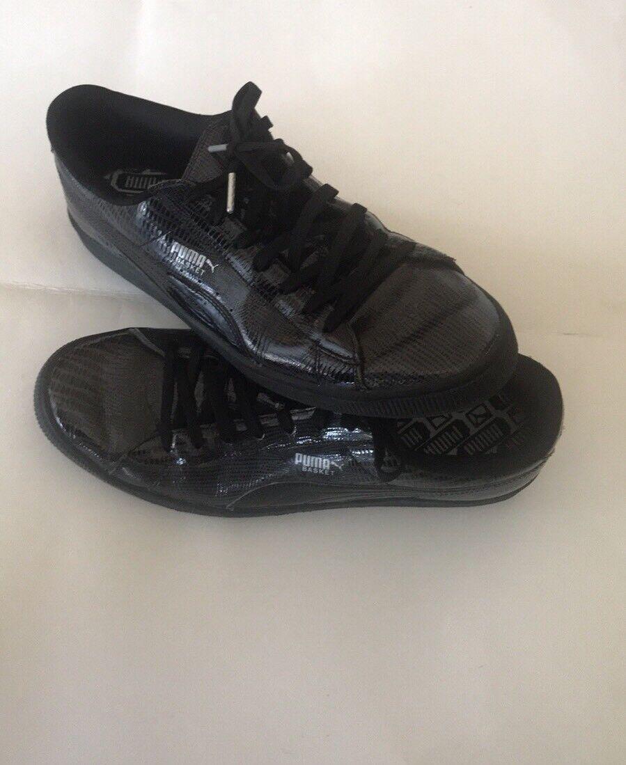 Men's Metallic black Puma Basket Shoes   size 12 Seasonal price cuts, discount benefits