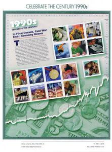 602-33c-Celebrate-the-Century-3187-1990-039-s-USPS-Commemorative-Panel