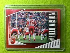PATRICK-MAHOMES-CARD-JERSEY-15-CHIEFS-RED-99-FIELD-VISION-2019-Donruss-Elite
