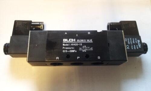 """Pneumatik válvula 5//2 IG 1//2/"""" 12 voltios bistabil et4v420-15-12vdc blch"""