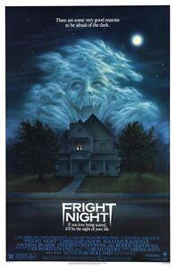 VINTAGE-B-Cartel-de-pelicula-fright-night-Impreso-Art-A4-A3-A2-A1