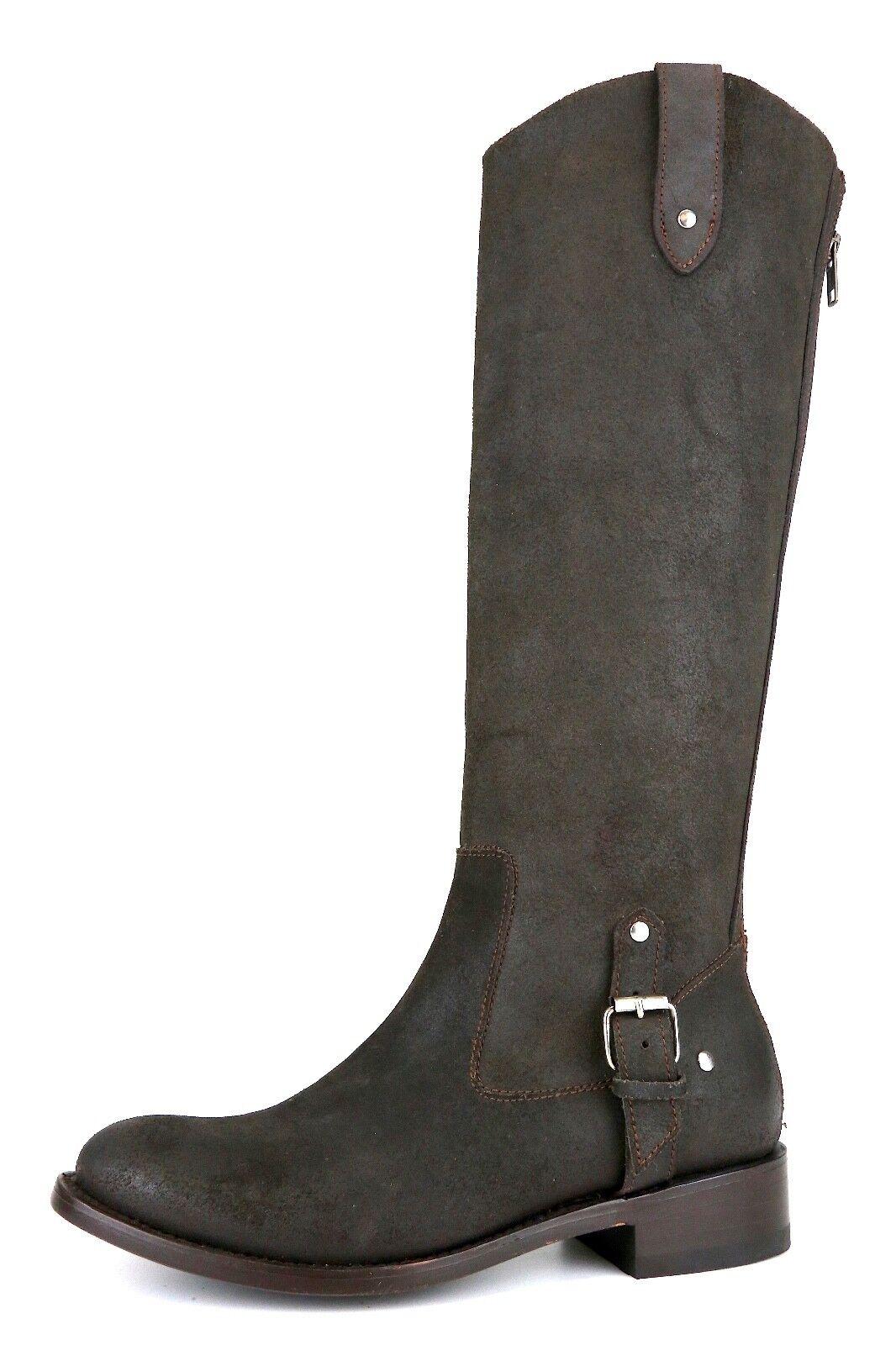 Dolce Vita Back Zip Suede Boots Brown Women Sz 6.5 5057 *