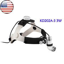 Us 3w Dental Surgical Ent Led Lamp Headlight Medical Headlamp Kd 202a 3