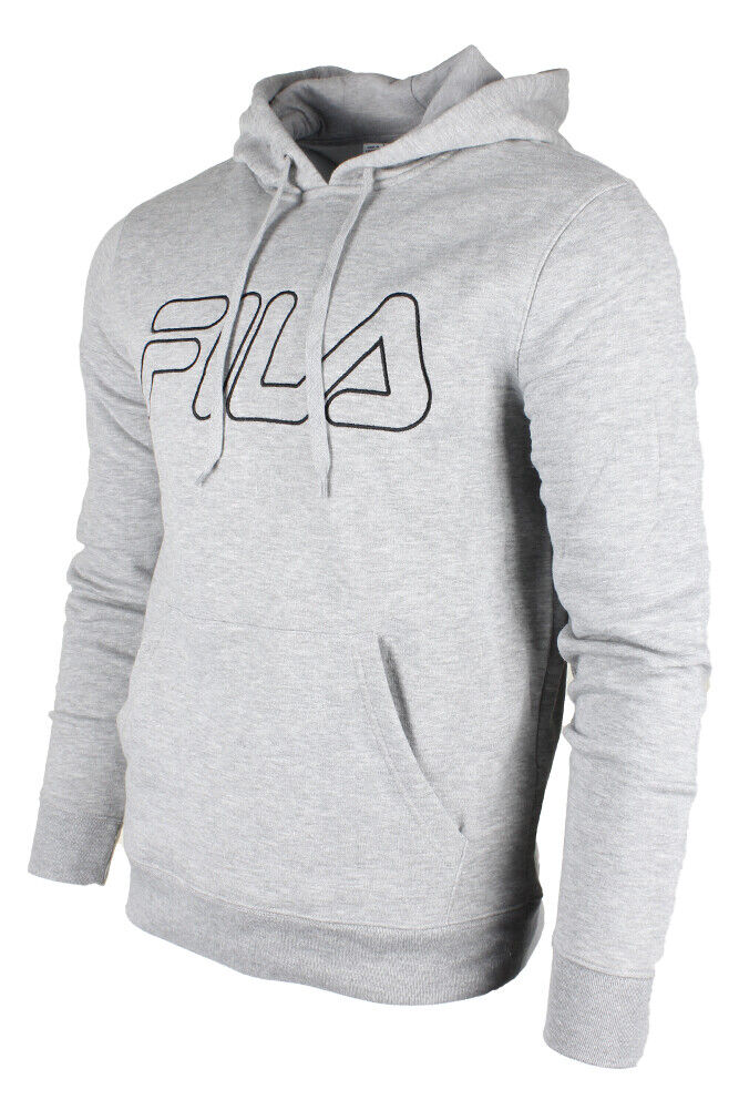 Fila Men/'s Classic Logo Heavy Speed Front Pocket Heavy Fleece Hoodie