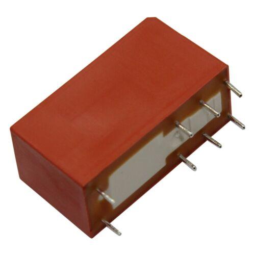 Rt424024 relais voie électromagnétique DPDT uspule 24vdc 8a//250vac 8 a 6-1393243-8