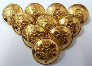 Genuine British Army Officers Grenadier Guards 25mm Dress Buttons X10 ASBT75