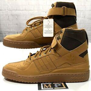 Adidas-Forum-Hi-OG-Nubuck-Shoes-AQ5519-Gum-Brown-High-Ankle-Strap-Men-s-Size-11