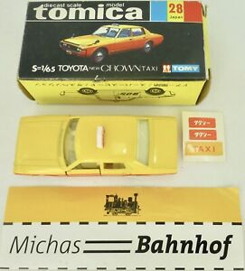 Toyota-Crown-Taxi-1-65-Tomy-28-Japon-Diecast-Tomica-Boxed-Like-Neuf-A