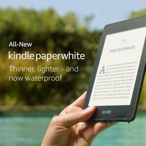 Kindle-Paperwhite-8GB-impermeable-luz-de-fondo-construido-en-2018-Audible