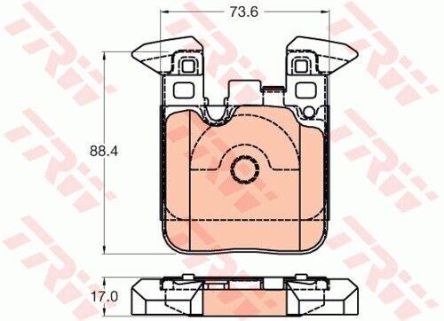 Garnitures de freins complet Set Arrière BMW 3873891 2x TRW Disques De Frein