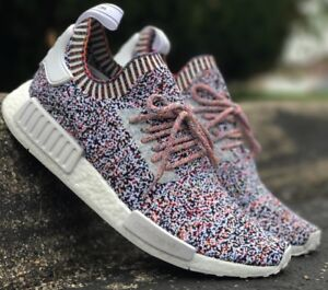 8e94dfe592f25 Adidas NMD R1 PK  Static optic  multi colour  no signal  BW1126 UK ...